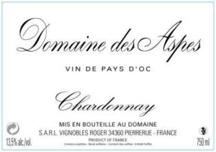 Chardonnay - Domaine des Aspes