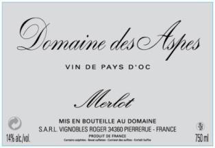 Merlot - Domaine des Aspes